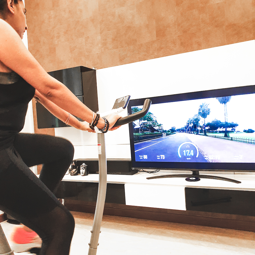 NEXGIM AI Power Exercise Bike For A Spin Class at Home