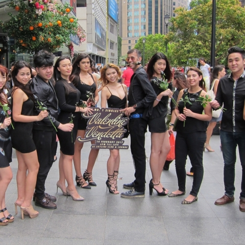 Singaporeans Clad in Black to Fight the Stigma of Being Single on Valentine's Day